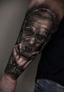 Ганнибал Лектер – фото тату 13.01.2021 №0055 -Hannibal Lecter Tattoo- tatufoto.com