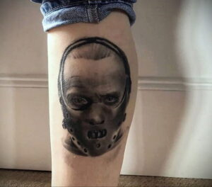 Ганнибал Лектер – фото тату 13.01.2021 №0056 -Hannibal Lecter Tattoo- tatufoto.com