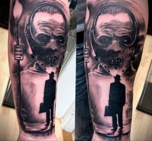 Ганнибал Лектер – фото тату 13.01.2021 №0058 -Hannibal Lecter Tattoo- tatufoto.com
