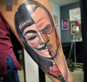 Ганнибал Лектер – фото тату 13.01.2021 №0059 -Hannibal Lecter Tattoo- tatufoto.com