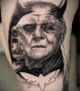 Ганнибал Лектер – фото тату 13.01.2021 №0060 -Hannibal Lecter Tattoo- tatufoto.com
