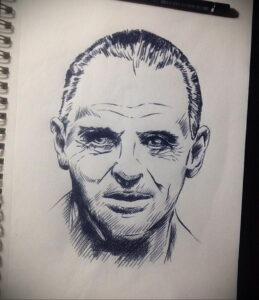Ганнибал Лектер – фото тату 13.01.2021 №0061 -Hannibal Lecter Tattoo- tatufoto.com