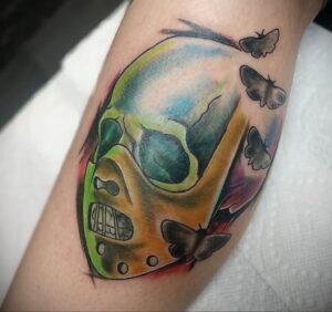 Ганнибал Лектер – фото тату 13.01.2021 №0063 -Hannibal Lecter Tattoo- tatufoto.com