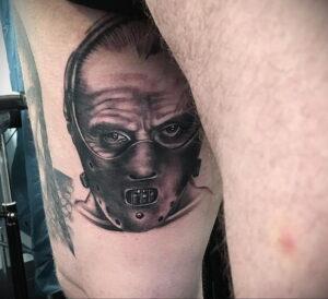 Ганнибал Лектер – фото тату 13.01.2021 №0064 -Hannibal Lecter Tattoo- tatufoto.com