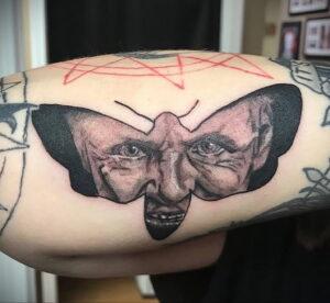 Ганнибал Лектер – фото тату 13.01.2021 №0066 -Hannibal Lecter Tattoo- tatufoto.com