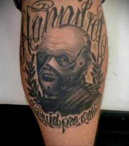 Ганнибал Лектер – фото тату 13.01.2021 №0071 -Hannibal Lecter Tattoo- tatufoto.com