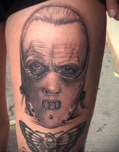 Ганнибал Лектер – фото тату 13.01.2021 №0075 -Hannibal Lecter Tattoo- tatufoto.com