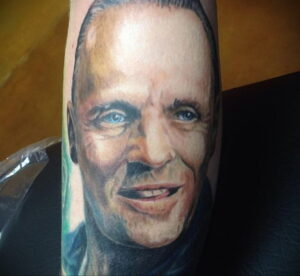 Ганнибал Лектер – фото тату 13.01.2021 №0077 -Hannibal Lecter Tattoo- tatufoto.com