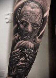 Ганнибал Лектер – фото тату 13.01.2021 №0079 -Hannibal Lecter Tattoo- tatufoto.com