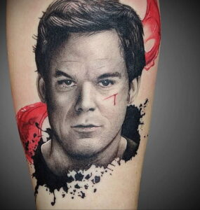 Декстер Морган – фото тату 13.01.2021 №0002 -Dexter morgan tattoo- tatufoto.com