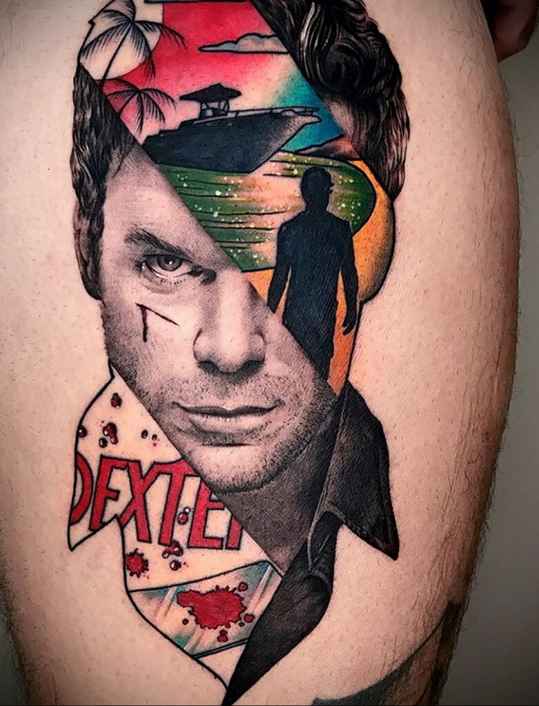 Декстер Морган – фото тату 13.01.2021 №0003 -Dexter morgan tattoo- tatufoto.com
