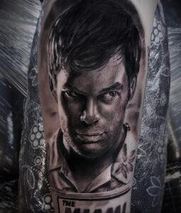 Декстер Морган – фото тату 13.01.2021 №0005 -Dexter morgan tattoo- tatufoto.com