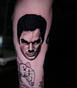 Декстер Морган – фото тату 13.01.2021 №0008 -Dexter morgan tattoo- tatufoto.com