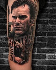 Декстер Морган – фото тату 13.01.2021 №0009 -Dexter morgan tattoo- tatufoto.com