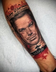 Декстер Морган – фото тату 13.01.2021 №0010 -Dexter morgan tattoo- tatufoto.com