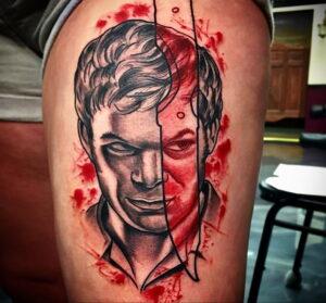 Декстер Морган – фото тату 13.01.2021 №0016 -Dexter morgan tattoo- tatufoto.com
