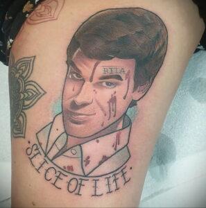 Декстер Морган – фото тату 13.01.2021 №0022 -Dexter morgan tattoo- tatufoto.com