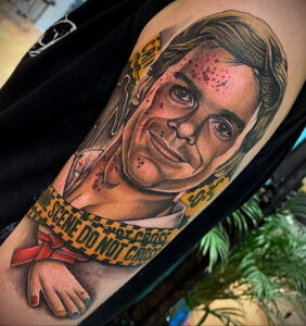 Декстер Морган – фото тату 13.01.2021 №0033 -Dexter morgan tattoo- tatufoto.com