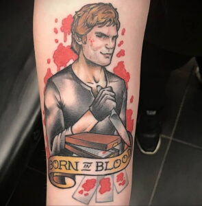 Декстер Морган – фото тату 13.01.2021 №0034 -Dexter morgan tattoo- tatufoto.com