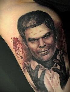 Декстер Морган – фото тату 13.01.2021 №0038 -Dexter morgan tattoo- tatufoto.com