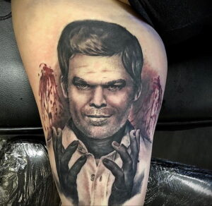 Декстер Морган – фото тату 13.01.2021 №0039 -Dexter morgan tattoo- tatufoto.com