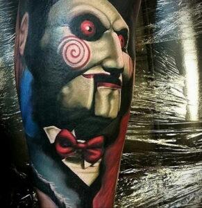 Джон Крамер (Пила) – фото тату 13.01.2021 №0002 -saw tattoo- tatufoto.com