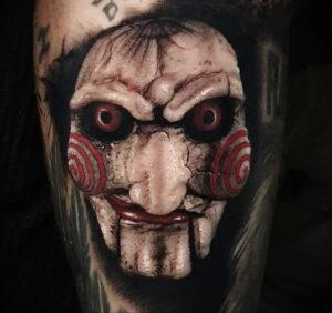 Джон Крамер (Пила) – фото тату 13.01.2021 №0003 -saw tattoo- tatufoto.com
