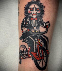 Джон Крамер (Пила) – фото тату 13.01.2021 №0005 -saw tattoo- tatufoto.com