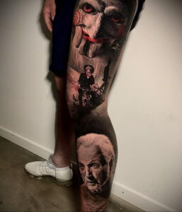 Джон Крамер (Пила) – фото тату 13.01.2021 №0009 -saw tattoo- tatufoto.com