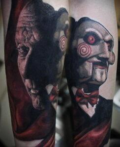 Джон Крамер (Пила) – фото тату 13.01.2021 №0010 -saw tattoo- tatufoto.com