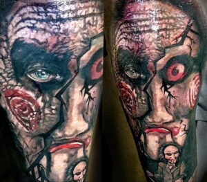 Джон Крамер (Пила) – фото тату 13.01.2021 №0012 -saw tattoo- tatufoto.com