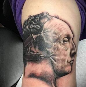 Джон Крамер (Пила) – фото тату 13.01.2021 №0016 -saw tattoo- tatufoto.com