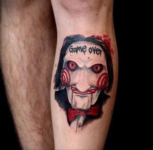 Джон Крамер (Пила) – фото тату 13.01.2021 №0017 -saw tattoo- tatufoto.com