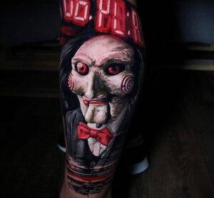 Джон Крамер (Пила) – фото тату 13.01.2021 №0020 -saw tattoo- tatufoto.com
