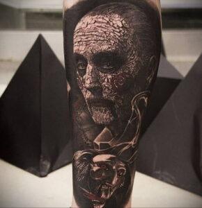 Джон Крамер (Пила) – фото тату 13.01.2021 №0021 -saw tattoo- tatufoto.com