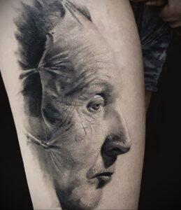 Джон Крамер (Пила) – фото тату 13.01.2021 №0023 -saw tattoo- tatufoto.com