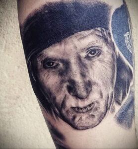 Джон Крамер (Пила) – фото тату 13.01.2021 №0024 -saw tattoo- tatufoto.com