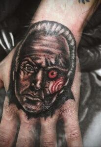 Джон Крамер (Пила) – фото тату 13.01.2021 №0025 -saw tattoo- tatufoto.com