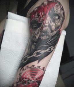 Джон Крамер (Пила) – фото тату 13.01.2021 №0027 -saw tattoo- tatufoto.com