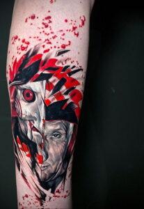Джон Крамер (Пила) – фото тату 13.01.2021 №0028 -saw tattoo- tatufoto.com