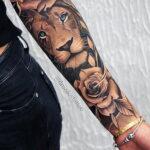 Женская тату в стиле реализм 02.01.2021 №002 -female tattoo realism- tatufoto.com