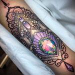 Женская тату в стиле реализм 02.01.2021 №010 -female tattoo realism- tatufoto.com