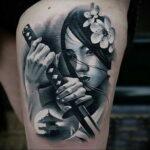 Женская тату в стиле реализм 02.01.2021 №017 -female tattoo realism- tatufoto.com