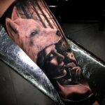 Женская тату в стиле реализм 02.01.2021 №021 -female tattoo realism- tatufoto.com