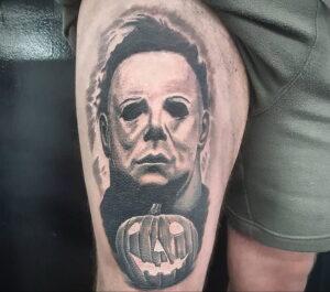 Майкл Майерс – фото тату 13.01.2021 №0001 -Michael Myers tattoo- tatufoto.com