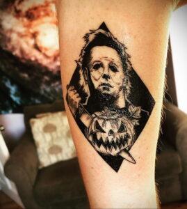 Майкл Майерс – фото тату 13.01.2021 №0002 -Michael Myers tattoo- tatufoto.com