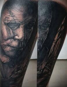 Майкл Майерс – фото тату 13.01.2021 №0003 -Michael Myers tattoo- tatufoto.com