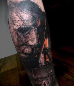 Майкл Майерс – фото тату 13.01.2021 №0007 -Michael Myers tattoo- tatufoto.com