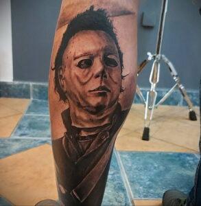 Майкл Майерс – фото тату 13.01.2021 №0010 -Michael Myers tattoo- tatufoto.com
