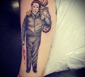 Майкл Майерс – фото тату 13.01.2021 №0016 -Michael Myers tattoo- tatufoto.com